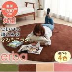 ラグ 200×200 丸型 丸 円 カーペット 絨毯 フランネル 円形