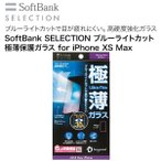 SoftBank SELECTION �֥롼�饤�ȥ��å� �����ݸ�饹 for iPhone XS Max