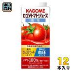 ショッピングトマトジュース カゴメ トマトジュース 1L紙パック 6本入×2 まとめ買い (野菜ジュース)〔トマトジュース 有塩 食塩入り〕