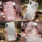 iPhone XS Max XR ケース iPhoneXS iPhone8 ケース iPhoneX iPhoneケース 韓国 おしゃれ 女子 花柄 上品な大振りフラワー柄 エレガント