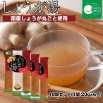 【送料無料】しょうが湯 粉末 10袋セット(1袋:20g×6包) 生姜湯
