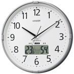 ショッピングインフルエンザ 湿度計・温度計機能付/CITIZEN 電波時計 インフォームナビS