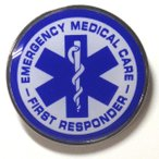 EMC - First Responder ラウンド・ピンバッジ