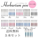 ハーバリウムボールペン 5本セット 全10色