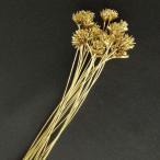 「即納」 ミニコーンフラワー 「ゴールド 小分け 約20本入」 花材 材料 プリザーブドフラワー 大地農園