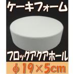 「即納」 ケーキ フォーム 「フロックアクア ホール19cm 1個」 プリザーブドフラワー 材料 花材 ブリック