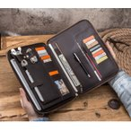 ipad PRO 10.5/11型 タブレット ケース/カバー バッグ型 ポーチ カバン型 本革 高級 レザー 手帳型 カード収納 多機能 ビジネス おしゃれ スリーブ上質