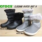 crocs CLOCBAND WINTER BOOT W▼クロックス クロックバンド ウィンターブーツ ウィメン▼BLACK/BLACK(205314-060)・DOTS/