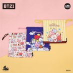 BT21 公式グッズ モバイルポーチ MOBILE POUCH 巾着ポーチ ポーチ 巾着 コスメポーチ メイクポーチ