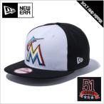 【送料無料】NEWERA ニューエラ 9FIFTY MLB マイアミ・マーリンズ ICHIRO EXCLUSIVES イチロー ブラック 黒 ホワイト 白 ブラックバイザー ブラック ホ