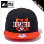 【送料無料】NEWERA ニューエラ 9FIFTY MLB マイアミ・マーリンズ ICHIRO EXCLUSIVES イチロー ブラック 黒 ホワイト 白 オレンジ ブラックバイザー ブ