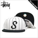 STUSSY ステューシー CLASSIC S STRIPE SNAPBACK CAP LOGO BLACK WHITE クラシック ストライプ スナップバック キャップ ブラック 黒 ホワイト 白 ロゴ 帽子 メ