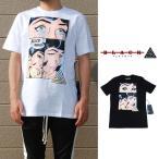 ブラックピラミッド Tシャツ BLACK PYRAMID She's Calling T-shirt S/S TEE BLACK WHITE プリント  トップス 半袖 ブラック 黒 ホワイト 白 メンズ