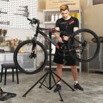 SONGMICS 自転車メンテナンススタンド ワークスタンド 折りたたみ式 スチール製 高さ調節 角度調節 コンパクト  NSBR05B