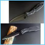 Spyderco(スパイダルコ) C91BBK パシフィックソルト オールブラック 直刃/波刃 フォルダーナイフ(折りたたみ式)