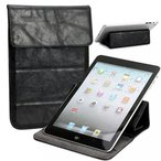 2 in 1 PC NuVur Universal Faux leather Stand & Case fits Asus ZenPad S 8.0 Z580CA|Black