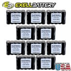ドローン 10pc Exell 12 V 1000 mAh (10xAA) NiCd Battery Pack w Tabs