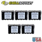 ドローン 5pc Exell 12 V 1000 mAh (10xAA) NiCd Battery Pack w Tabs