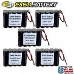 ドローン 5pc Exell 12V 1000mAh (10xAA) NiCd Battery Pack w Wire Leads