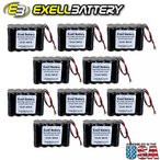 ドローン 10pc Exell 12V 1000mAh (10xAA) NiCd Battery Pack w Wire Leads