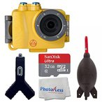 アクションカメラ Intova DUB Photo & Video Action Camera (Sport Yellow) SanDisk Ultra 32GB microSDHC UHS-I Card + Giottos AA1900 Rocket Air Blaster