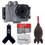 アクションカメラ Intova DUB Photo & Video Action Camera (Graphite) - SanDisk Ultra 32GB microSDHC UHS-I Card + Giottos AA1900 Rocket Air Blaster