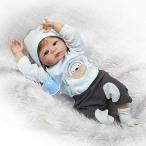 幼児用おもちゃ NPK Reborn Baby Dolls Silicone Full Vinyl Body Realistic Alive Reborn Baby Boy with Fiber Hair 23 Inch Doll Boneca Toy Kids Birthday