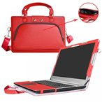 2 in 1 PC Lenovo Ideapad 510 15 Case,Coustom Designed Protective PU Cover + Portable Carrying Bag With Handle Shoulder Strap For 15.6