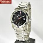 ウェンガー 腕時計 70487 海外モデル クオーツ ALPINE アルパイン ブラック×シルバー メンズ (SB)