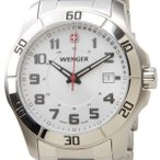 ウェンガー 腕時計 70489 海外モデル クオーツ ALPINE アルパイン ホワイト×シルバー メンズ (SB)