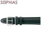 スイスミリタリー SWISS MILITARY  純正 腕時計用ベルト レザー メンズ ブラック 18mm幅