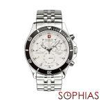 スイスミリタリー 腕時計 ML321 フラッグシップ クロノグラフ ホワイト (長期保証5年付)