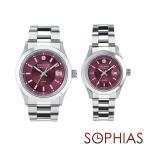 スイスミリタリー ペア腕時計 ML305&ML310 エレガント プレミアム ワインレッド ペアウォッチ (長期保証5年付)
