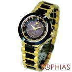 ジョン・ハリソン J.HARRISON JH-028GB ソーラー電波 天然ダイヤモンド付 ブラック×ゴールド メンズ腕時計