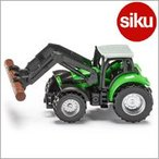 輸入ミニカー Siku (ジク) 1380 ドゥーツ トラクター木材運搬アーム付