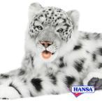 HANSA ハンサ ぬいぐるみ 6999 ユキヒョウ 70 ジャガード織り SNOWLEOPARD JACQUARD LAYING