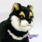 HANSA ハンサ ぬいぐるみ 7249 黒柴 仔 22 DOG SHIBA PUP