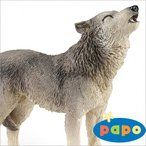 papo(パポ社) 動物フィギュア 50171 オオカミ 吠
