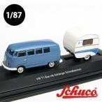 Schuco(シュコー)社ミニカー 452610500 VW T1 バス Knaus Schwalbennest トレーラーハウス付 1/87