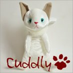<Cuddly>カドリー こだわりのぬいぐるみ 仔ネコのヌイグルミ ナルシス ブランシェ