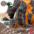 Schleich シュライヒ社フィギュア 42305 大火山とティラノサウルス 恐竜ビッグセット