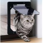 即取り付け 網戸専用 犬猫出入り口 S/猫・小型犬用 〒クリポに投函