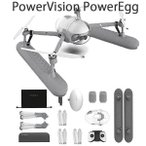 ドローン PowerVision PowerEgg X  Wizard ウィザード版 ドローン AIカメラ付き 高画質 全天候型ドローン 防雨飛行可能