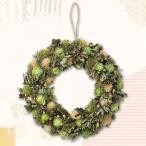 リース フラワーリース グリーンリース LサイズΦ33 可愛い緑とお花のリース 天然素材 1年中おすすめ