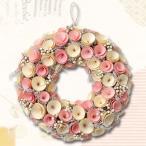 リース フラワーリース ピンクリース LサイズΦ33 可愛いピンクの花リース 天然素材 春におすすめ