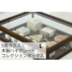ガラスケース ハイクラス 木製コレクションケース 幅40cm ブラウン