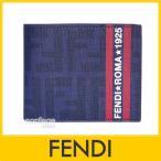 FENDI フェンディ fendi メンズ財布 7M0008 ZUCCA ズッカ ブルー×レッド(BLUE) FENDI-7M0008-00HXM-F0QA2