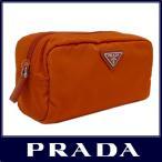 PRADA プラダ 化粧 ポーチ ヴェラ ナイロン パパイヤオレンジ 1N0350 VELA PAPAYA