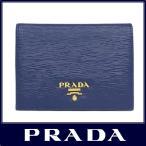 ショッピングPRADA PRADA プラダ 二つ折り 財布 牛革型押し ダークブルー 1MV204 VITELLO MOVE BLUETTE 2EZZ F0016