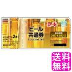ビール券 新デザイン ビール共通券 びん 633ml 2本 送料無料 ポイント消化